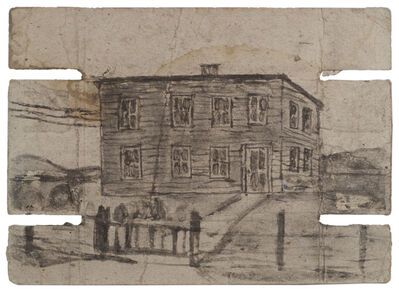 James Castle, 'Untitled (Large house, verso: interior)', n.d.