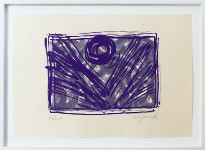 A.R. Penck, 'Mondblume violett', 1993