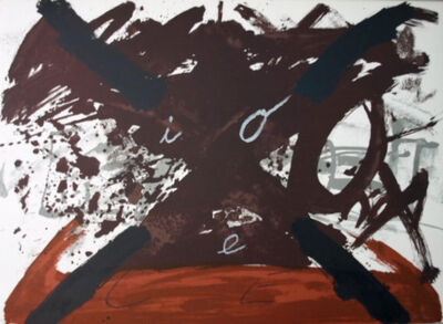 Antoni Tàpies, 'Gran X from the Negre I Roig Suite', 1976