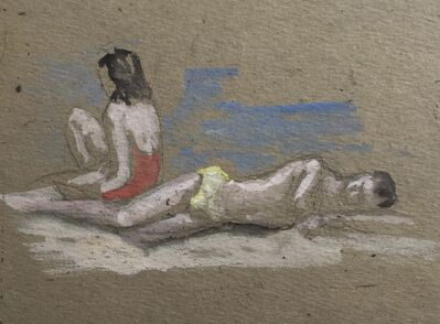 Alvin Ross, 'Figures at the Beach', Mid 20th c.