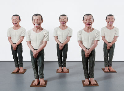 Yue Minjun, 'Five works: Contemporary Terracotta Warriors Series No. 3', 2002