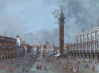 Giacomo Guardi, 'View of the Piazza San Marco', Late 18th Century