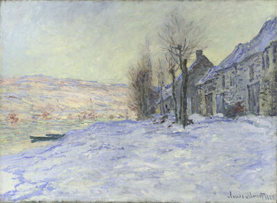 Claude Monet, 'Lavacourt under Snow', about 1878-1881