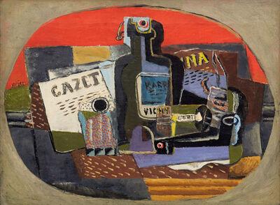 Henri Hayden, 'Bouteille et journal', 1919