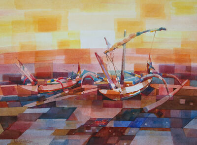 Lam Siong Onn 藍祥安, 'Balinese Fishing Boats', 2013