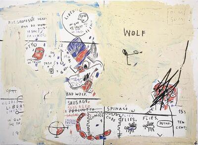 Jean-Michel Basquiat, 'Wolf Sausage', 1982-83/2019