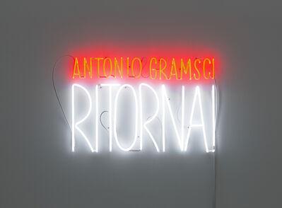 Alfredo Jaar, 'Antonio Gramsci, Ritorna!', 2018
