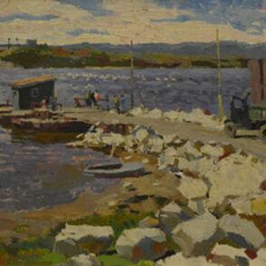 Vladimir Frolovich Stroev, 'Ferry', 1963