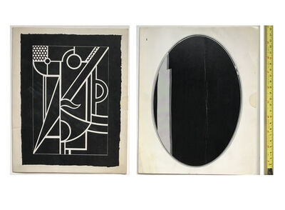 """Roy Lichtenstein, 'SET of 2 EXHIBITION INVITATIONS MAILERS, Leo Castelli Gallery NYC- """"New Editions, Lithographs, Sculpture Reliefs"""", 1970 & """"Mirrors"""", 1971.', 1970/71"""