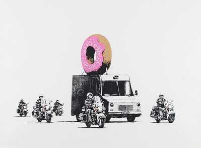 Banksy, 'Strawberry Donuts', 2009