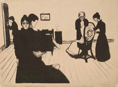 Edvard Munch, 'A Death in the Sickroom', 1896