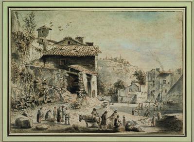 Jean-Jacques de Boissieu, 'A Village Square', 1760-1765
