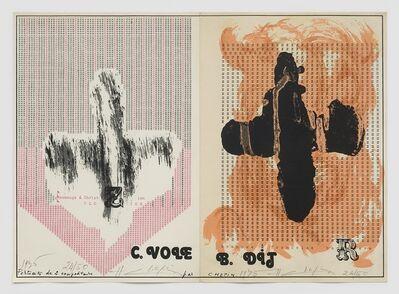 Henri Chopin, 'Portraits de 2 compositeurs - hommage à Christian Clozier et Françoise Barrière', 1975