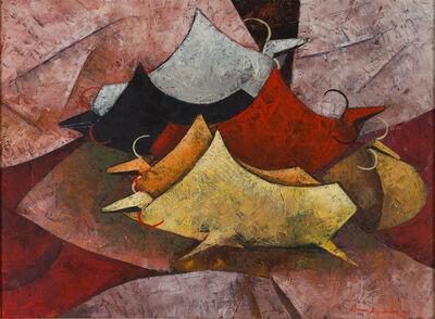 Tay Bak Koi, 'Homebound Cattle', 1996