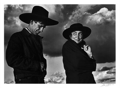 Ansel Adams, 'Georgia O'Keeffe and Orville Cox, Canyon de Chelly National Monument, Arizona', 1937