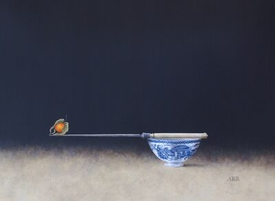 Alison Rankin, 'Blue Dragon Bowl with Knife and Balancing Physalis', 2018