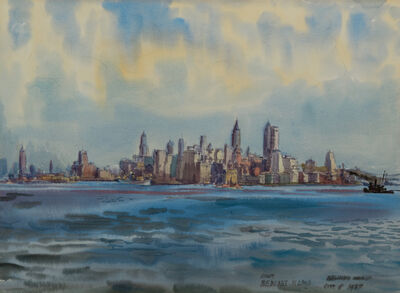 Reginald Marsh, 'New York from Bedloe's Island', 1937