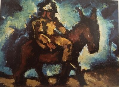 Josef Herman RA, 'Man with a Donkey'