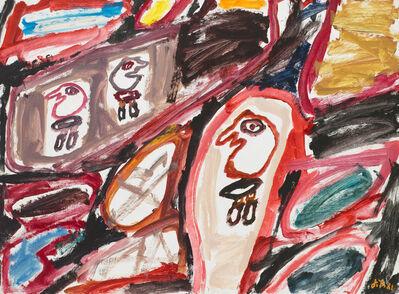 Jean Dubuffet, 'Site avec 3 personnages', August 19-1981