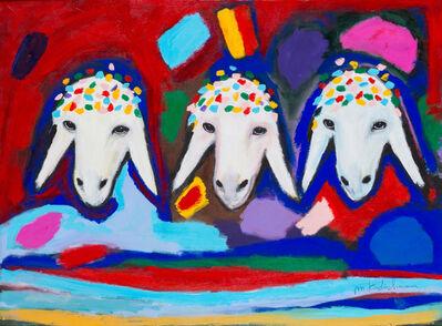 Menashe Kadishman, 'Three Sheep', ca. 2005