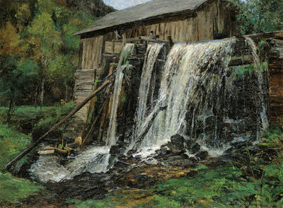 Olga Wisinger-Florian, 'Waterfall, Mill near Hartenstein', 1905