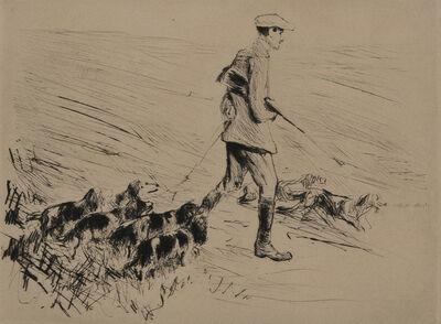 Max Liebermann, 'Jäger mit Hunden', 1914