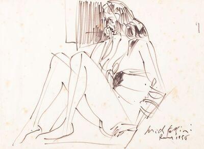 Pericle Fazzini, 'Sitting woman', 1956