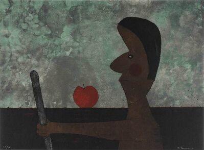 Rufino Tamayo, 'Hombre Con Manzana (P. 141)', 1973