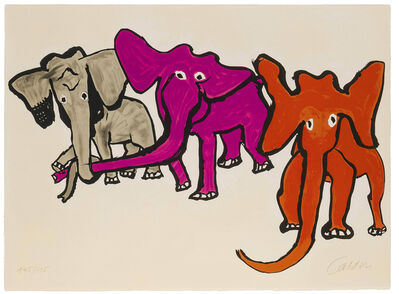 Alexander Calder, 'Three Elephants (from Our Unfinished Revolution)', 1975