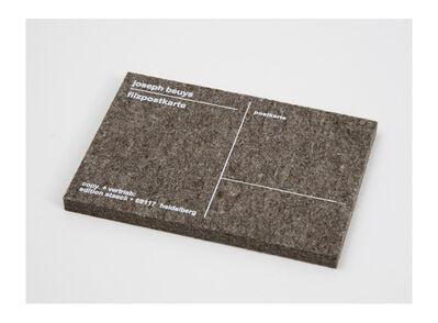 Joseph Beuys, 'Filzpostkarte/ Felt Postcard', 2000