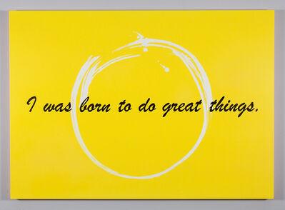 Mickalene Thomas, 'I was born to do great things', 2014