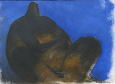 Ricardo Martinez, 'Sin título (Hombre en fondo azul)', 1977