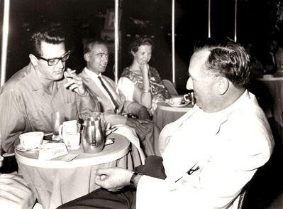 """Marcello Geppetti, 'Rock Hudson on holiday in Rome sitting at """"Cafè de Paris"""" in Via Veneto', 1960"""