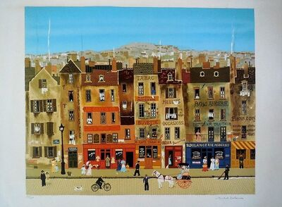 Michel Delacroix, 'Hand signed lithograph on Arches paper Paris Scene', 1970-1979