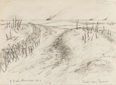 Christopher Richard Wynne Nevinson, 'Troops Near Peronne', 1917