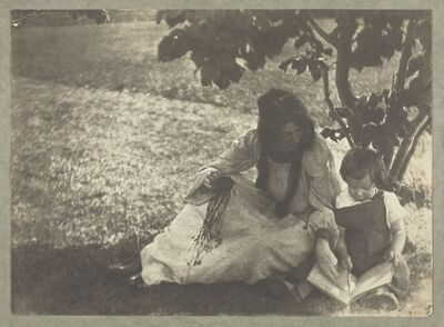 Gertrude Käsebier, 'The Story Book', 1903