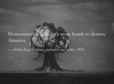 Yevgeniy Fiks, 'Stalin's Atom Bomb a.k.a. Homosexuality', 2012