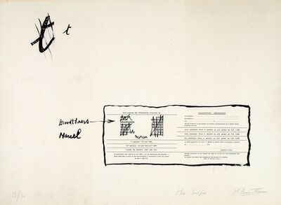 Marcel Broodthaers, 'La Faute d'orthographe (Mea culpa)', 1964