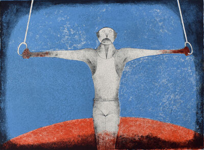 Rufino Tamayo, 'The Iron Cross (The Gymnast)| Cruz de hierro (El Gimnasta)', 1988
