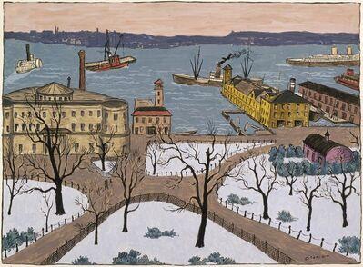 Glenn O. Coleman, 'Battery Park', Date unknown