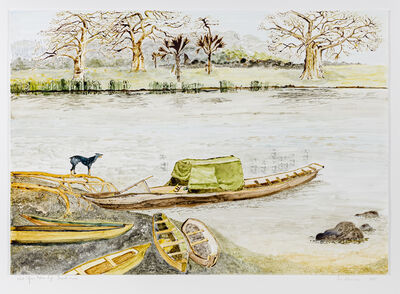 Sue Williamson, 'Postcards From Africa: West African Native life and scenes – Dugout Canoes', 2018