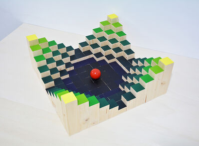 Miguel Angel Cardenal, 'Pixel construction game', 2020