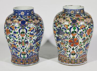 Unknown Chinese, 'Chinese expor porcelain vases', Qing dinasty Kanxi period