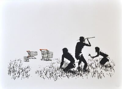 Banksy, 'Trolleys (Black & White)', 2007