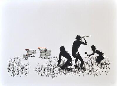 Banksy, 'Trolleys (Black & White)', 2007