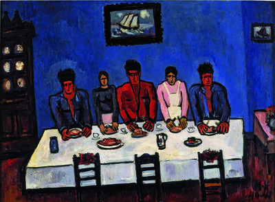 Marsden Hartley, 'Fishermen's Last Supper, Nova Scotia', 1940-1941