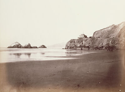 Carleton E. Watkins, 'The Cliff House from the Beach', 1868-1870