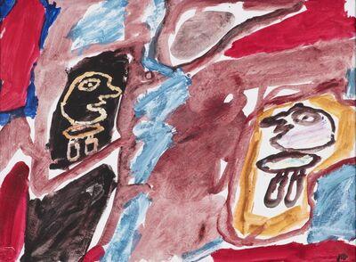 Jean Dubuffet, 'Site avec deux personnages, 10 septembre 1981', 1981