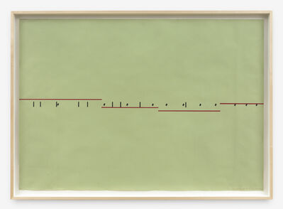 Barry Le Va, 'Insert of Tangent 11 of 4', 1974