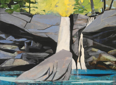 Mariella Bisson, 'Waterfall, Rock That Fell to Earth'